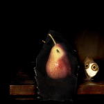Still life with pear and housefly, 2014